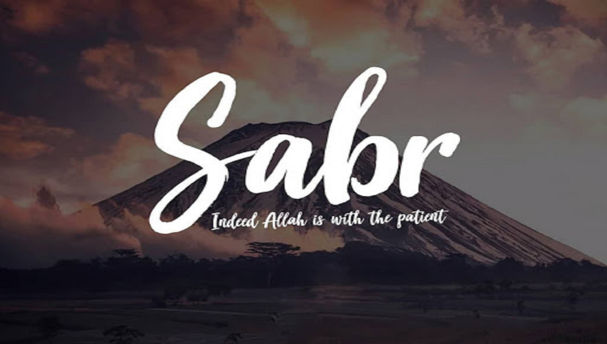 Sabr-Allah is with Patient